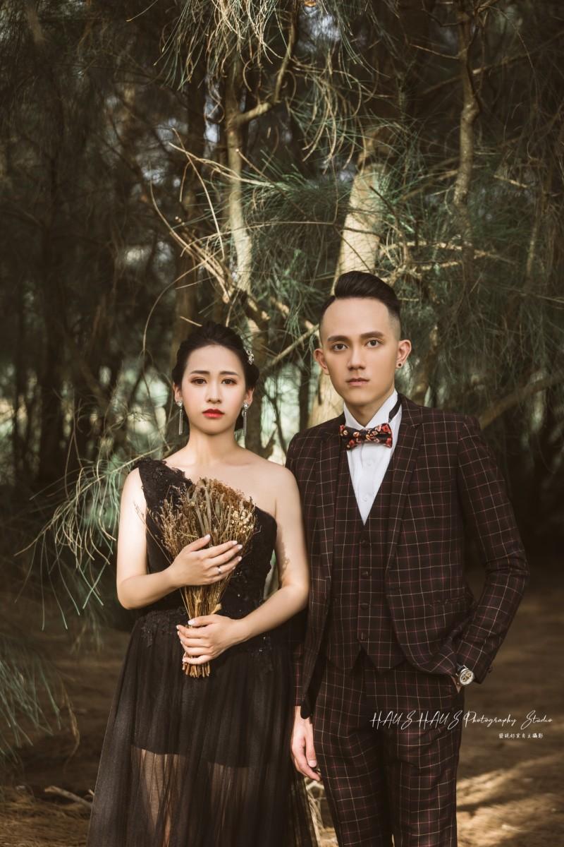 黑禮服婚紗攝影作品